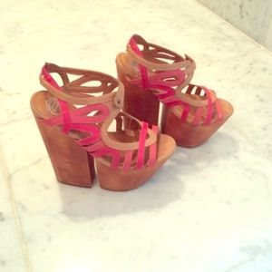 Jeffrey Campbell wooden platforms